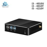 Мини ПК Core i5 4210Y i3 4010Y Windows 10 HD графика 4200 480 ГБ SSD USB VGA wifi HDMI Мини Компьютерный игровой Настольный ПК