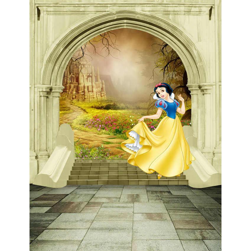 TR 8x8FT Белоснежка Принцесса сказочный замок садовый корт ворота шаги дворца Пользовательские Фотографии студии фоны Виниловые