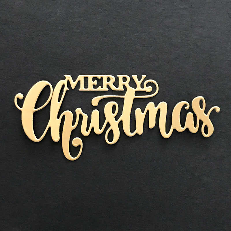 DIY Merry Christmas Metal Stitches Cutting Dies Stencils Embossing Photo Album Paper Card Crafts
