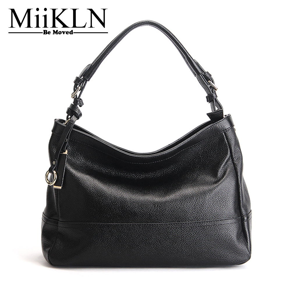 MiiKLN Genuine Leather Soft Bags Handbags Women Famous Brands Cow Leather Women Leather Handbags For 2017 Crossbody Woman Bag