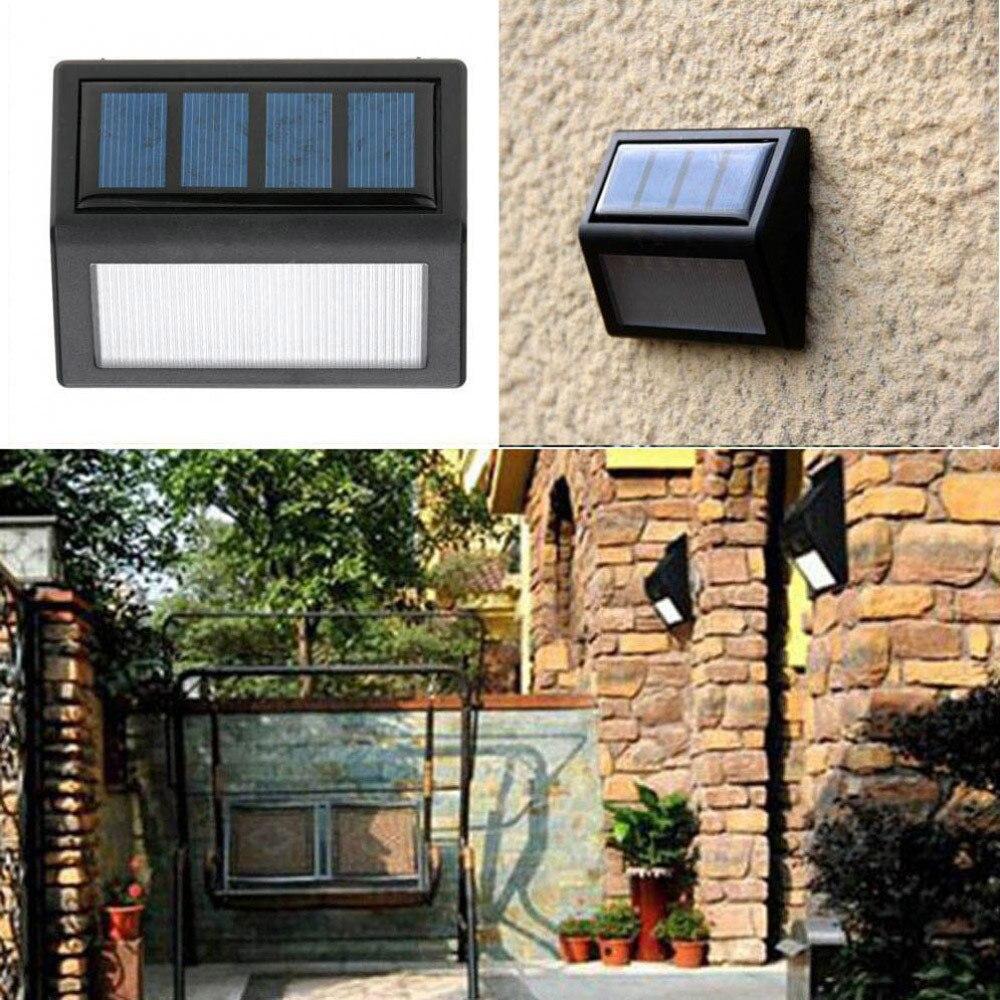 Домашний сад солнечной оптически управления Светодиодный свет Водонепроницаемый 6 светодиодный солнечный Мощность движения PIR Сенсор настенный светильник напольный светильник сада