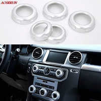 Volume And Air Conditoin Button Trim Car Accessories For Land Rover Discovery 4 2010 2016 Range