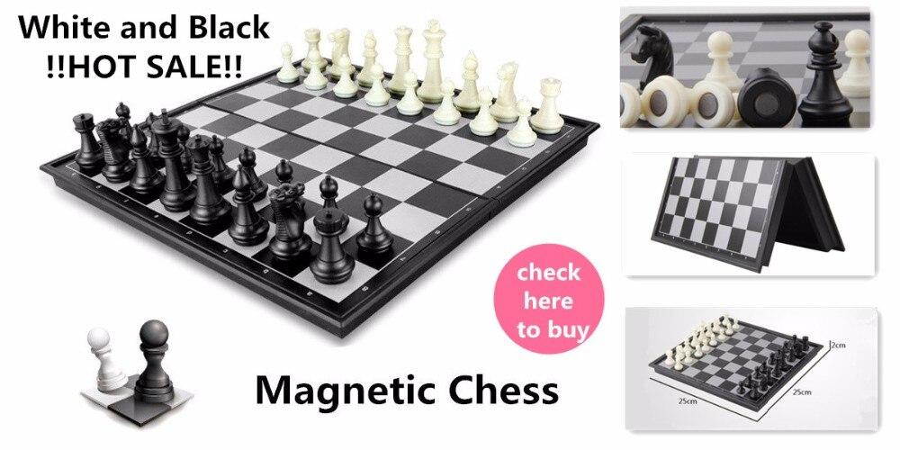 Bolso xadrez magnético portátil mini damas conjunto