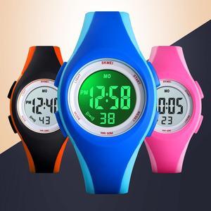 Image 5 - ブランド Skmei 子供腕時計 50 メートル防水クロノグラフストップウォッチスポーツ腕時計のためのガールブレスレット子供の腕時計時計