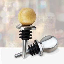 Stainless steel wine stopper round head silicone wine bottle stopper fresh silicone plug oil bottle stopper bar gadget 11 to 22 rubber stopper erlenmeyer flask plug bottle stopper test tube stopper