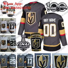 ec2fa72ec Custom Vegas Golden Knights 2018 Stanley Cup Gray White Fleury 67  Pacioretty Any Number  17