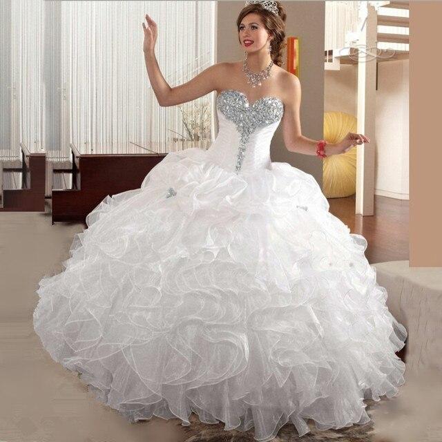 2 Stück Weiß Quinceanera Kleider Mit Jacke Rüschen Vestido De ...