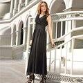 V-Neck Coral Black Chiffon Cocktail Dresses 2017 Elegant Ruffle Tea-Length Sash A-Line Evening Party Gowns Vestidos De 15 Cortos