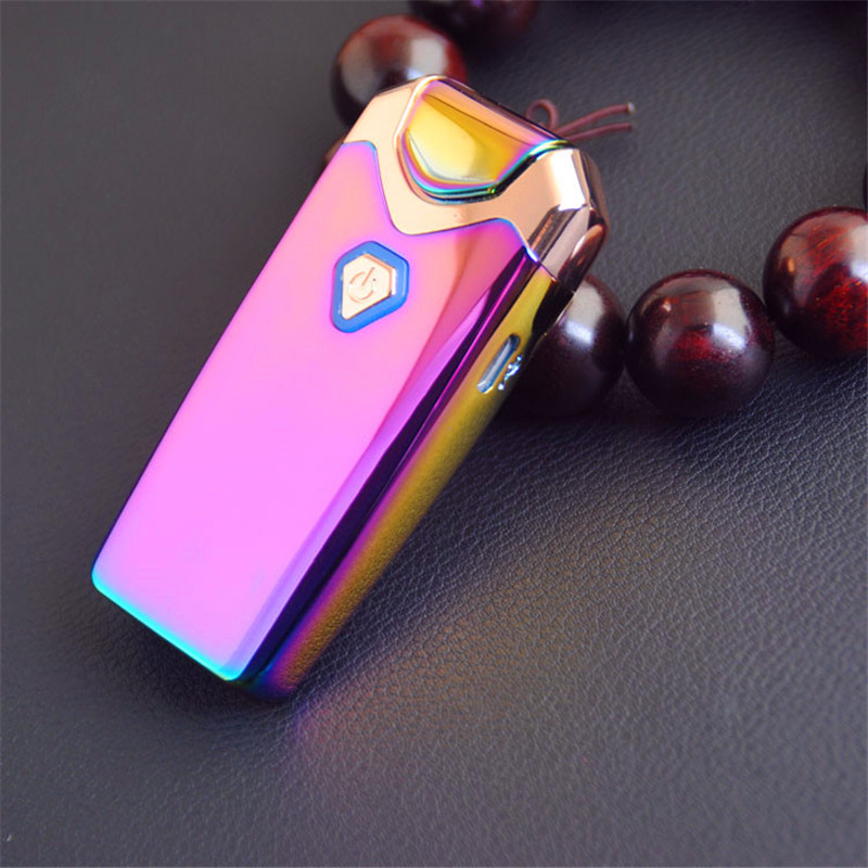 Image 5 - New USB Thunder Lighter Rechargeable Electronic Lighter Cigarette Plasma Double Arc Palse Pulse Windproof Gadgets for Men Gift-in Cigarette Accessories from Home & Garden