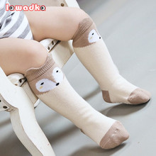Fox Design 3 Colors Cotton Knee Baby font b Socks b font Winter Fall Cute Boys