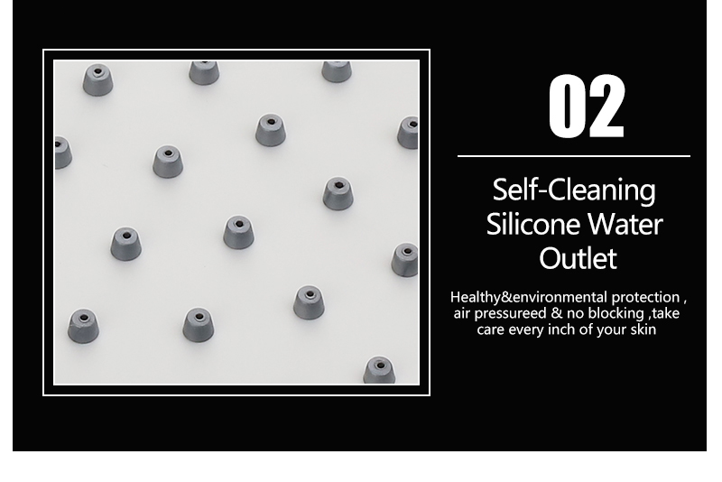 UFO Shower Head Showerhead Body Sprays Shower Head Round 8 Inch Ultra-Thin 2mm Bathroom Rain Shower Heads (17)