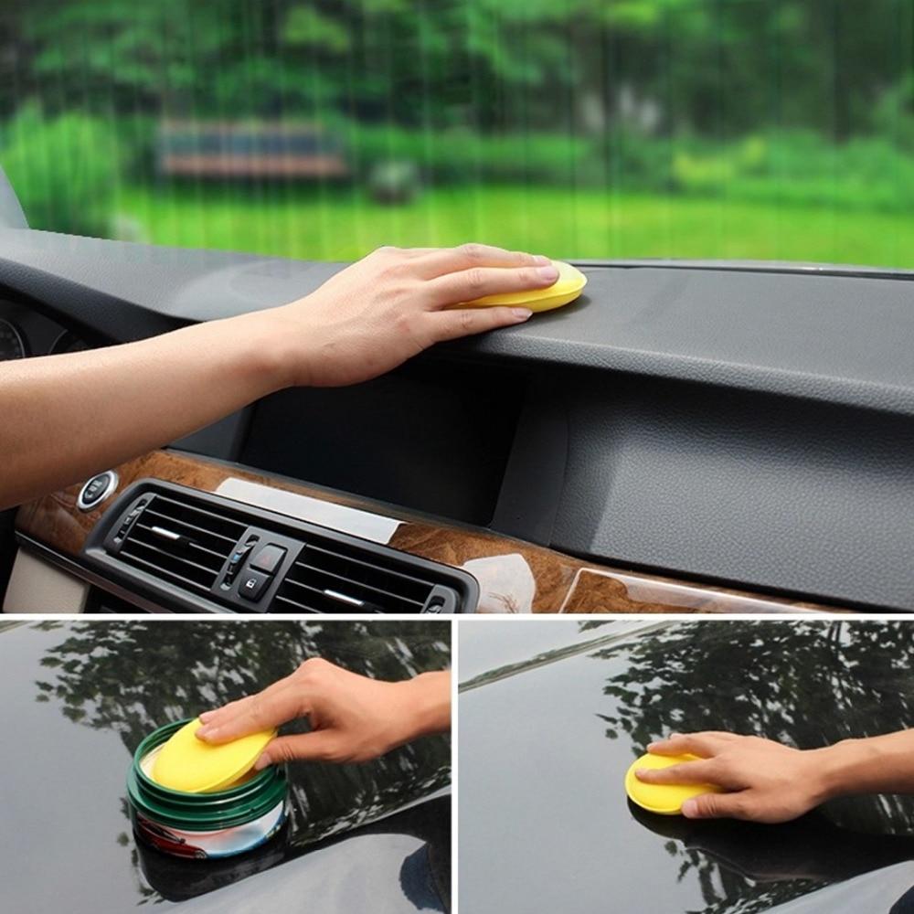 BU-Bauty 12pcs Car Vehicle Wax Polish Foam Sponge Hand Soft Wax Yellow Sponge Pad/Buffer for Car Detailing Care Wash Clean