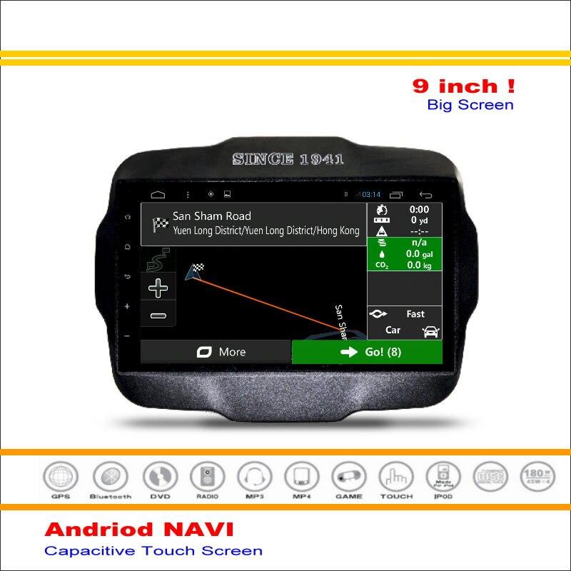 Android GPS del coche Sistema de Navegación Para Jeep Renegade 2015 ~  de Radio