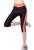 Nuevo 2016 mujeres de la Manera de Fitness Leggings Mujer Un Lado Pequeño Bolsillo Pantalones Elástico de Tres Cuartos Leggings G1351