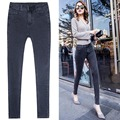 new Spring And Summer Fashion Brand Ms. Tight Pencil Jeans Gray Denim Elastic Pants High-quality Women's Casual Pants