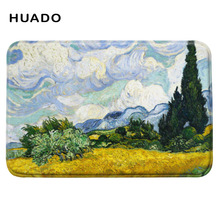 Famous oil painting design doormat  Creative Rugs Washable Bath Mats Door Mat Floor Entrance Living Room Ant