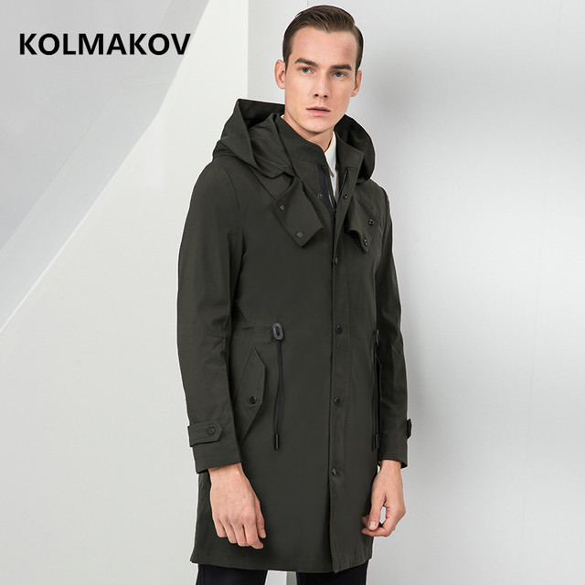 2019 new arrival spring jacket men high quality casual trench coat men,men's fashion Green and Black Business jackets
