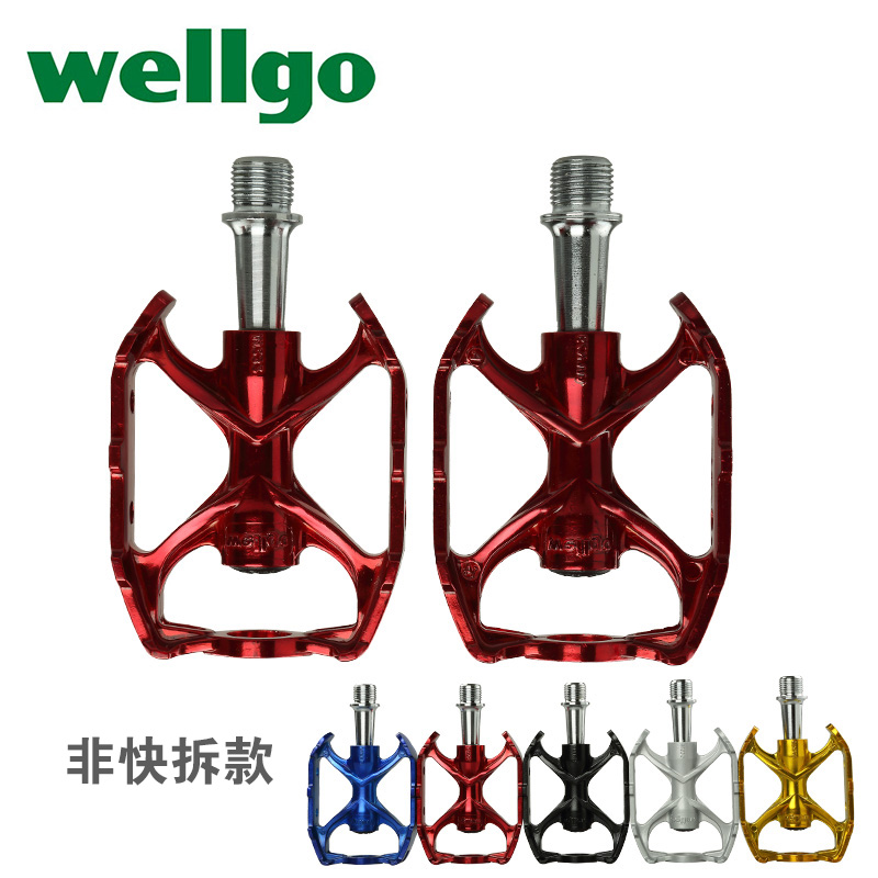 все цены на WELLGO M232 magnesium alloy bicycle pedal road bike quick release pedal mountain bike pedal bicycle parts Folding bike pedal онлайн