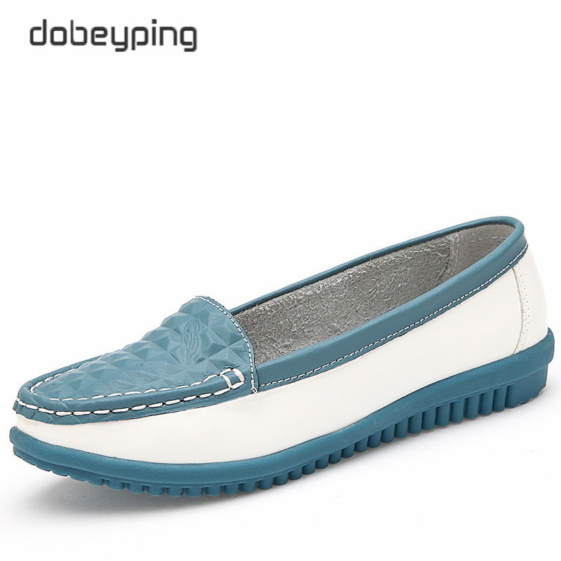 2017 New Women's Casual Shoes Cow Leather Woman Flats Shoe Moccasins Female Loafers Slip On Boat Shoes Leisure Single Footwear 2017 autumn new style cow leather women s casual shoes moccasins female flats shoe lace up woman loafers driving shoe size 35 43