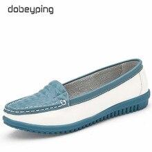 2017 yeni gündelik kadın ayakkabısı inek deri kadın Flats ayakkabı mokasen kadın loaferlar tekne ayakkabı üzerinde kayma eğlence tek ayakkabı
