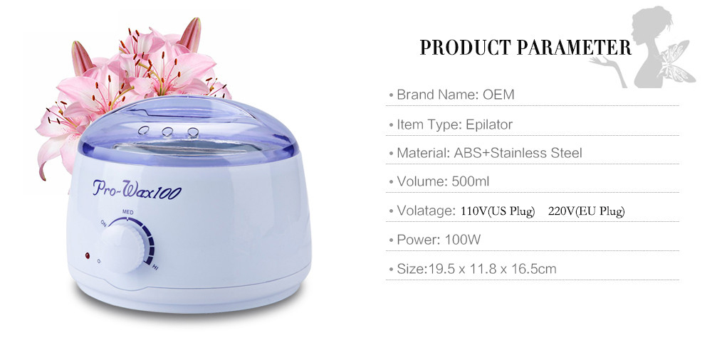 Wax Heater Professional Mini SPA Hand Epilator Feet Paraffin Wax Machine Temperature Control Depilatory Hair Removal Tool