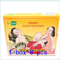 8psc*12boxes sex delay wet tissues wipes for man free shipping