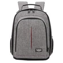 Фото камера водонепроницаемый рюкзак видео плечи мягкая сумка w/дождевик для мужчин и женщин чехол для Canon Nikon DSLR