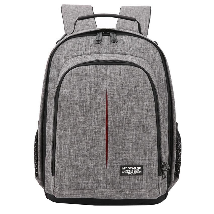 Photo Camera Waterproof Backpack Video Shoulders Soft Padded Bag W/ Rain Cover Men Women Case Pack For Canon Nikon DSLR