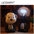 LEDIARY Lovely LED Rechargeable Doctor Dog Desk Lamp Flexible Length 12LED 220V Modern Reading Lamp Animal Desk Lamp Glasses Dog