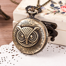 Retro owl Pocket watch jewelry fashion pocket watchs for Female dress male Sweater 2017 new Free shipping on all earth YL044