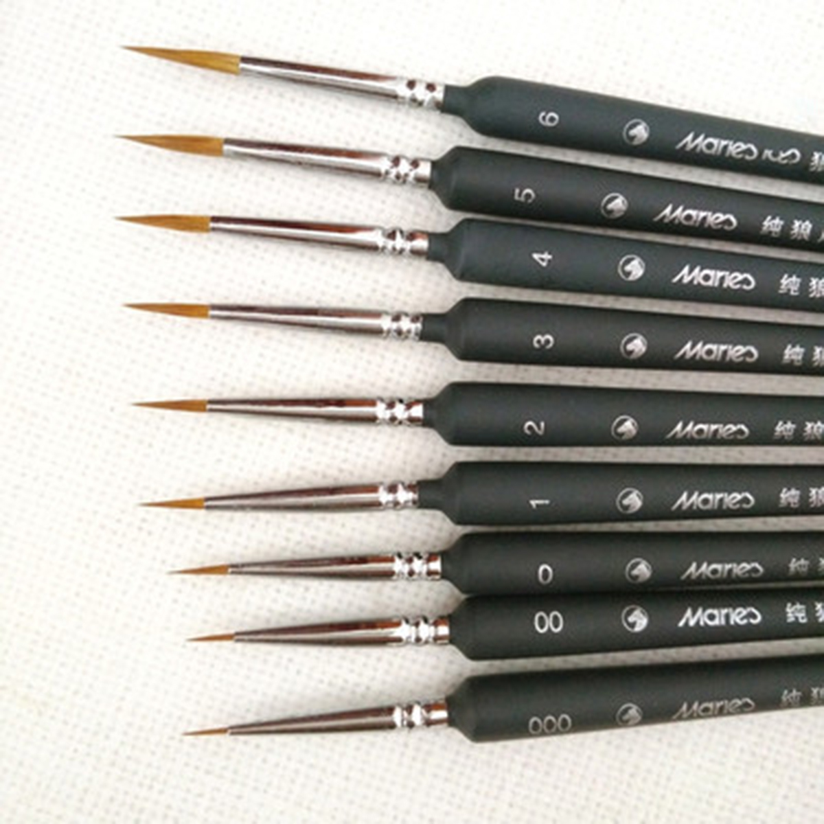 Professional Wolf Fine Tip Nylon Hair Detail Paint Brush Set Fine Detailing Painting Drawing Brush Art Supplies Painting Pen A20