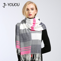 winter ladies scarves women high fashion poncho crinkle hijab red plaid scarf poncho capes warm cotton women's knit wool scarf