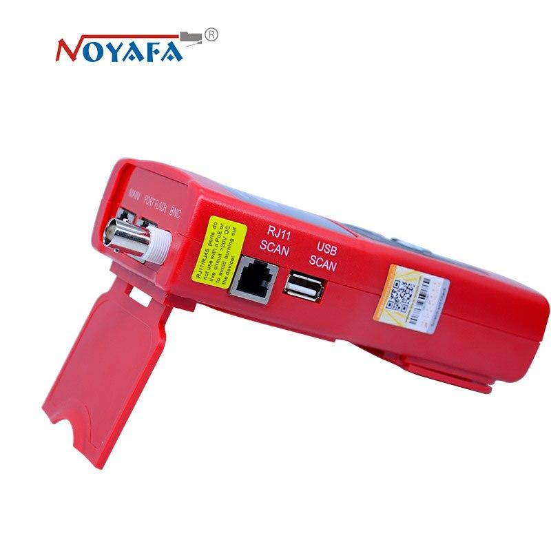 Monitorización de red cable tester LCD NF-308 de localizador de fallos de red LAN Coacial BNC USB RJ45 RJ11 color rojo NF_308 - 5