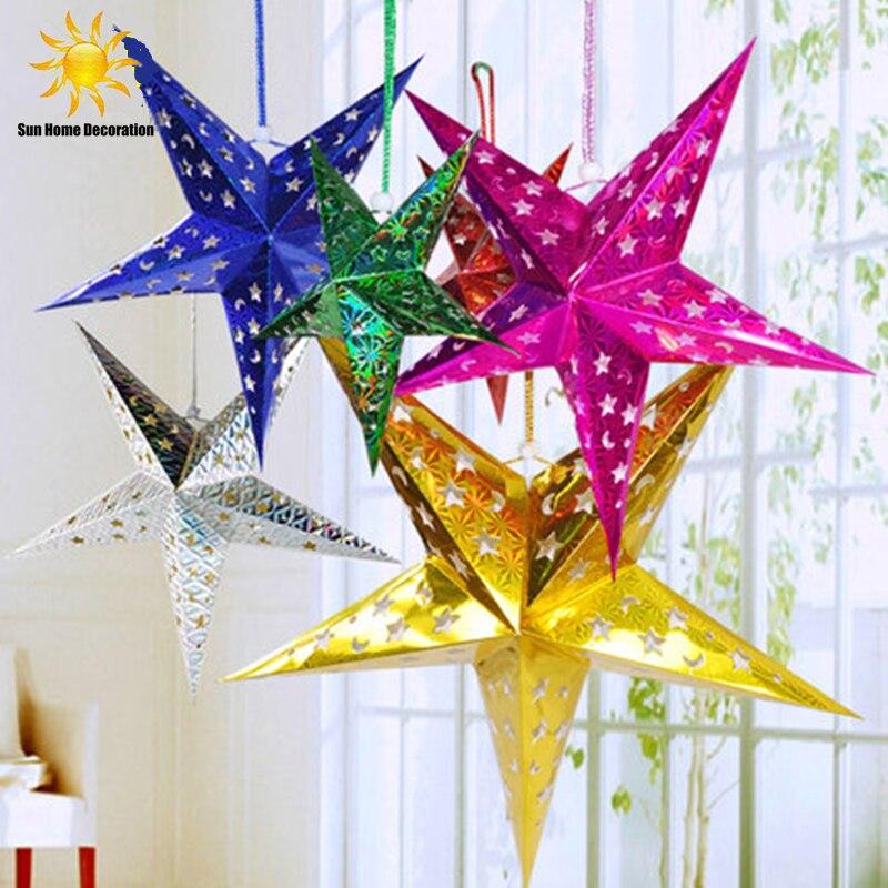 Karácsonyi díszek Háromdimenziós lézer pentagram Bar mennyezeti - Ünnepi és party kellékek