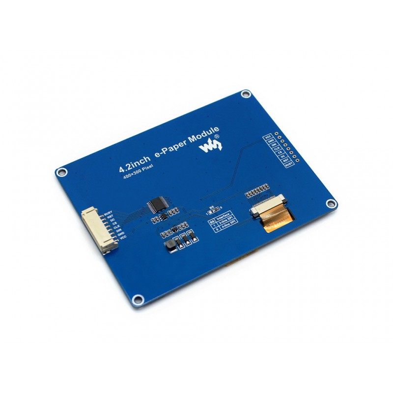 Waveshare 4.2'' E-Ink Display Module,400x300. 4.2inch E-paper,Three-color: Red Black White,SPI Interface,No Backlight,wide angle