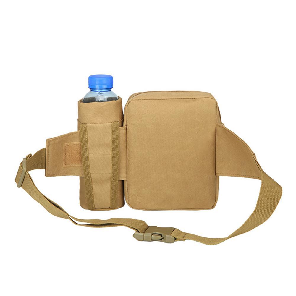 Banabanma Men Waist Bag Tactical Waist Pack Pouch with Water Bottle Holder Waterproof 800D Nylon Belt Bum Bag Waist Bag Men ZK40