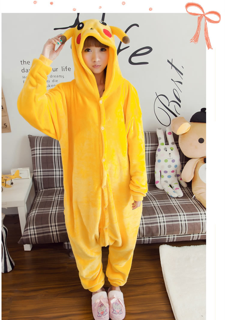 Pocket Monster cosplay coat cloak lovely cute Halloween anime dress accessaries free shipping yellow warm