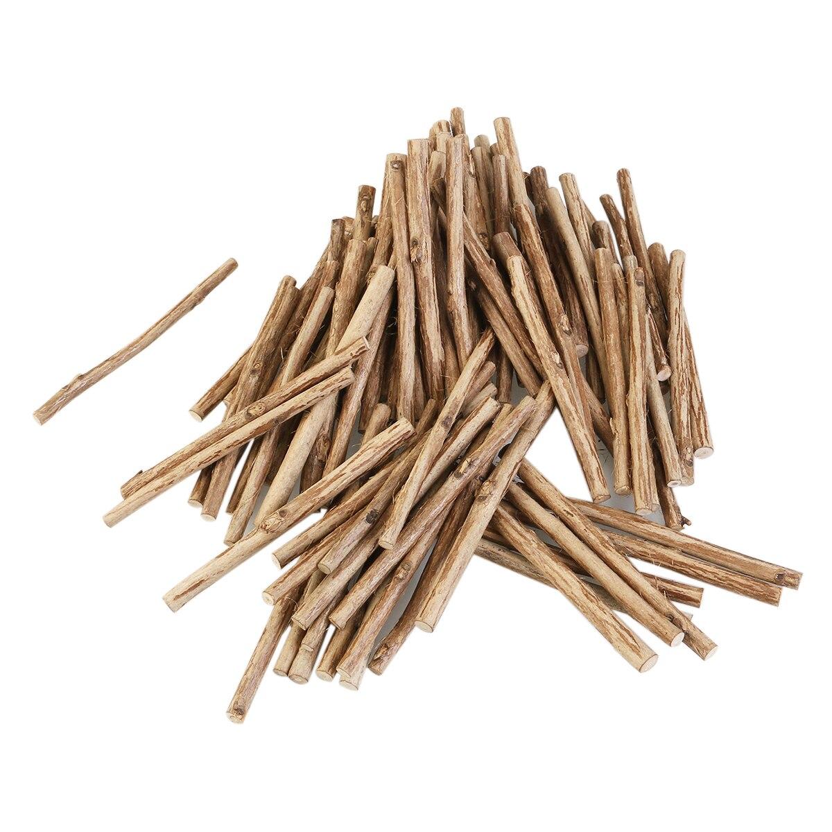 Round wooden sticks for crafts - 100pcs 10cm Long 0 5 0 8cm In Diameter Wood Log Sticks Wood Natural Color Round