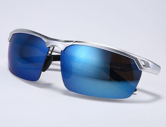 Aluminio Lente Gafas de Sol Polarizadas Deporte de Los Hombres Gafas de Sol de Espejo de Conducción Al Aire Libre Accesorios de Viaje Gafas Gafas Gafas UV400
