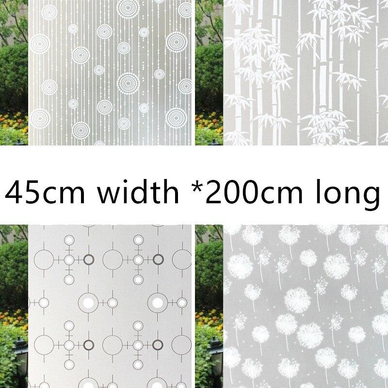 Zelfklevende en gekleurde frosted glasfolies voor badkamertoilet- en kantoorglas (breedte 45 cm * lengte 200 cm) raamfolie
