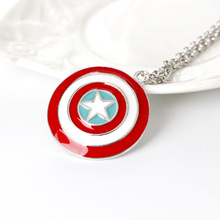 European and American film Avengers necklace pendant captain shield decorative fashion jewelry