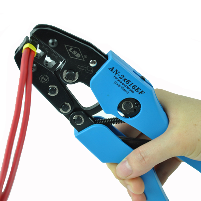 Ratchet crimping tool for cord end terminals twin wire 2*6 16mm2 ...
