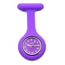 Силиконовые часы медсестры fob карманные цвет фиолетовый клип
