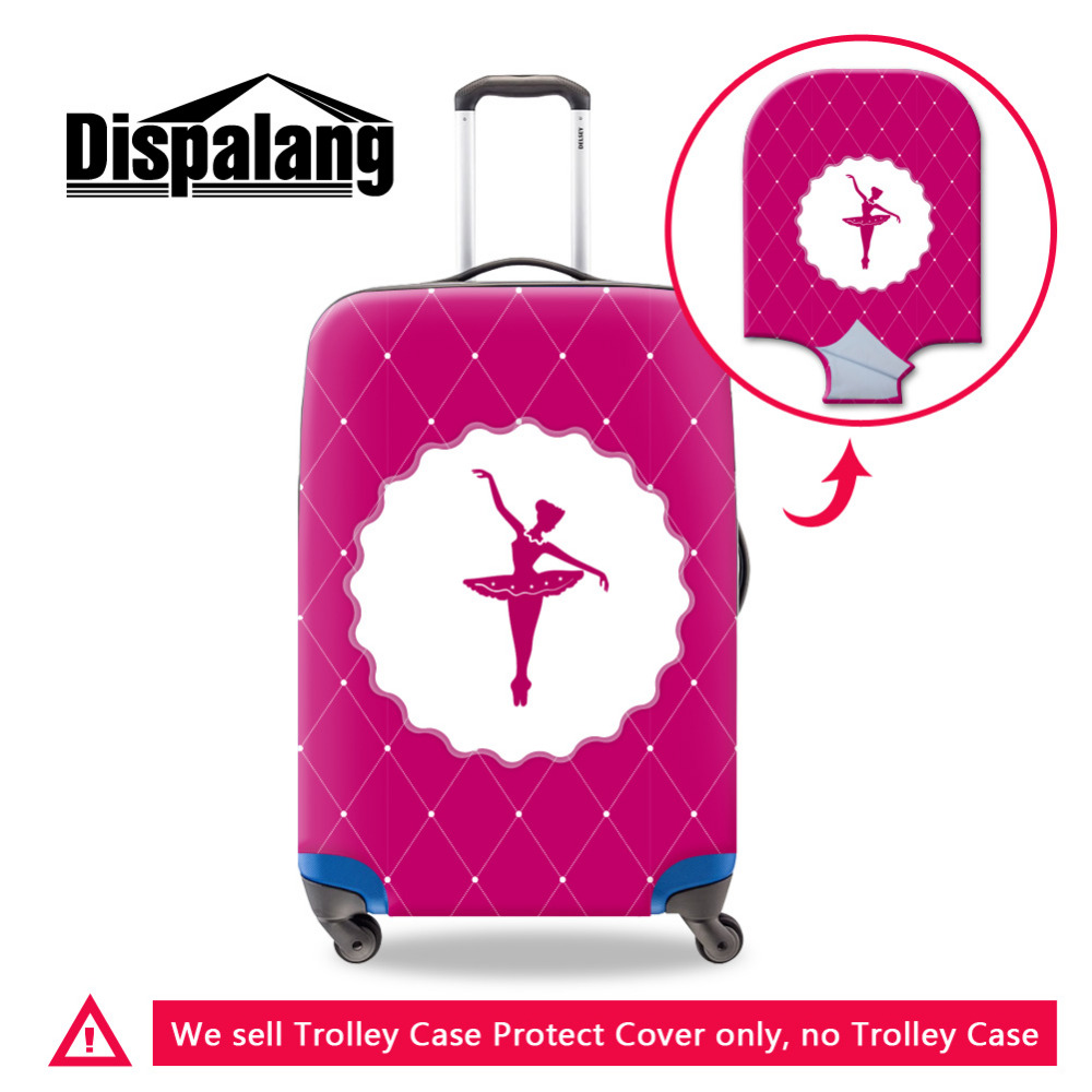 Dispalang Ballet Luggage Protective Cover Stretch Elastic Suitcase Cover made for S/M/L For 18 30 Inch Cases Travel Accessories
