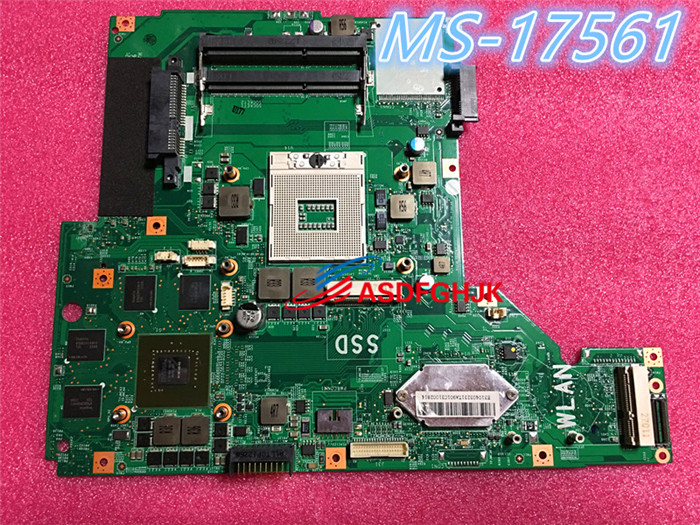 Original MS 1756 FOR MSI GE70 LAPTOP MOTHERBOARD MS 17561 REV 1 0 1 1 Test