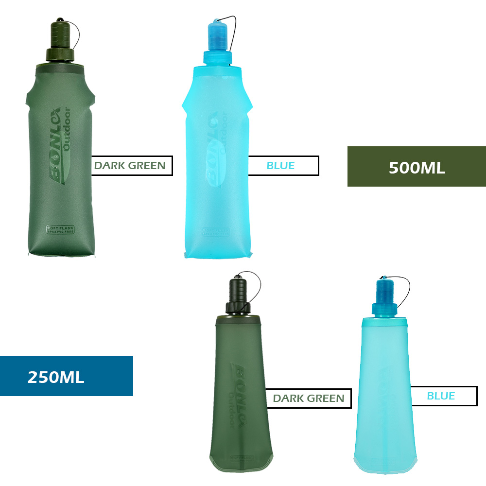 Image 4 - TPU Folding Soft Flask Sport Water Bottle Running Camping Hiking Water Bag Collapsible Drink Water Bottle Water Bag-in Water Bags from Sports & Entertainment