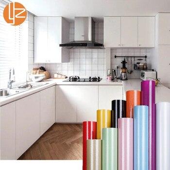 yazi Plain White Black Glitter Self Adhesive PVC Vinyl Wallpaper Roll for Kitchen Wall Paper Furniture Waterproof