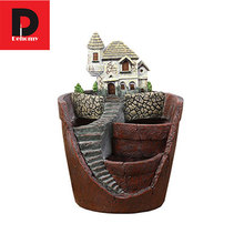Dehomy Flower Pot Micro Landscape Flowerpot Hot Sale Resin Succulent Plants Pot Garden Bonsai Planter Garden