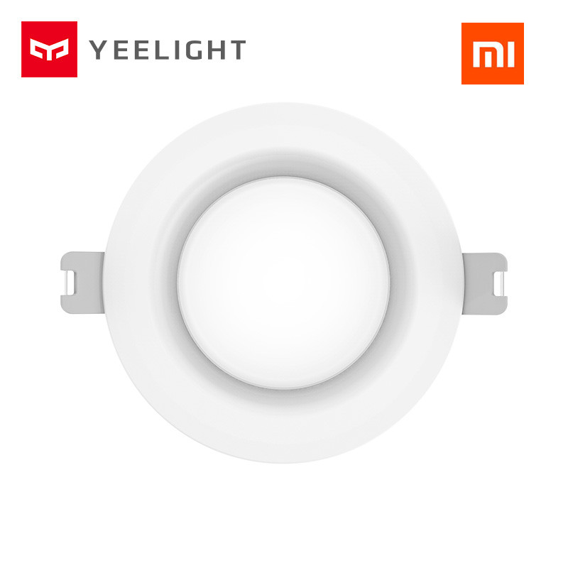 Original xiaomi mijia yeelight led downlight Warm Yellow /Cold white Round LED Ceiling Recessed Light For xiaomi smart home kits 2017 new national wind aslant handbag embroidered flowers small square bag rivet shoulder bag