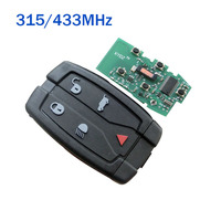 5 Buttons Remote Control Smart Key Fob 315/433MHz Keyless for Land Rover LR2 clicker NT8TX9+Uncut Small Key